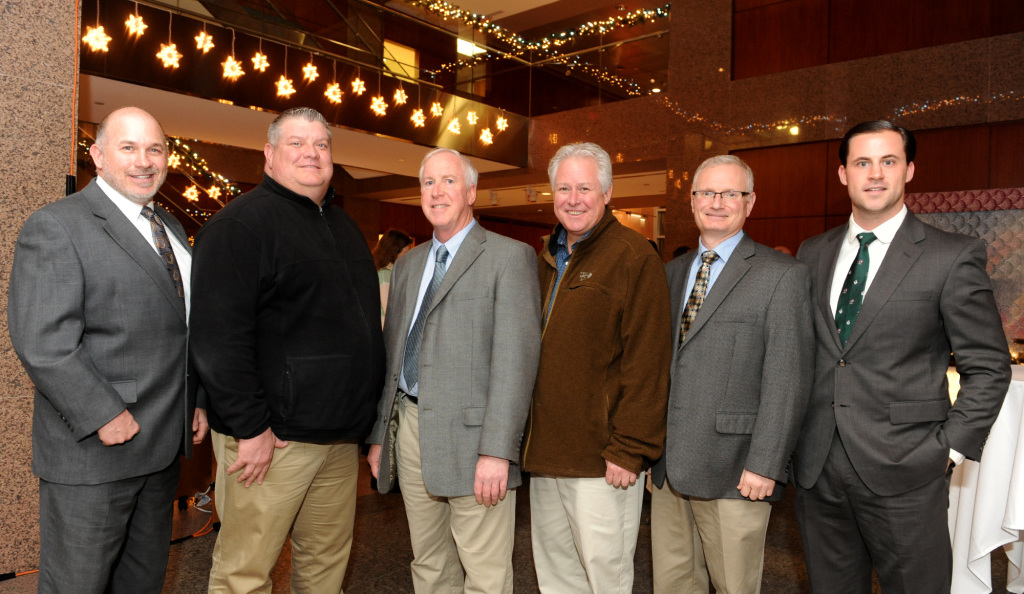 From left: Kevin Casey and Mike Burns of Hobbs Brook Management; Mike Brown, AHA; Chris McCarthy, Columbia Construction; Mike Ortolano, Absolute Green Energy; Santo, Dettore, Hobbs Brook Management.